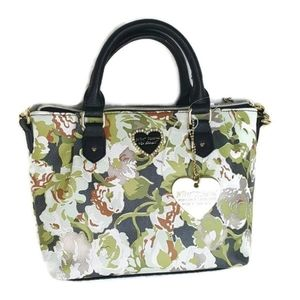 BETSEY JOHNSON Floral Olive PURSE